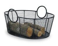 Achla Minuteman Fire Wood Log Basket - Steel Wire Basket - Large WI-09