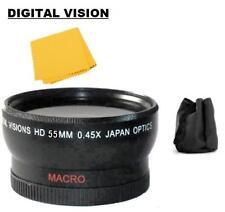 55mm D.Vision Wide Angle Lens for Sony FDR-AX53 DSC-H400 DSC-HX400 DSC-HX300