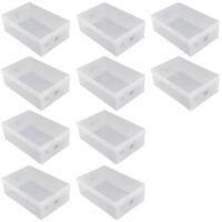 10 StüCke Faltbare Kunststoff Schuh Box Box Stapelbar Organizer Schuh RegalR1C3
