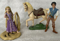 "Set Of 3 Disney Tangled Rapunzel Flynn 3-4"" PVC Action Figure Cake Topper Toy"
