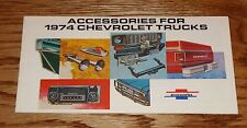 Original 1974 Chevrolet Truck Accessories Catalog Sales Brochure 74 Chevy