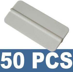 50 Pcs Mini Soft Squeegee Scraper Vinyl Wrap Decal Application Sign Maker Tools