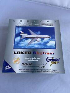 Gemini jets 1:400 DC-10 Laker SkyTrain Limited Edition VGC GJLKR177