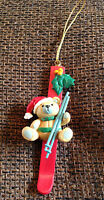 Teddy Bear on a Ski Christmas ornament