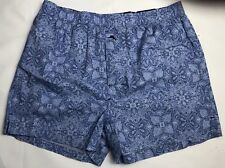 Tommy Bahama Mens Underwear Woven Boxer Small Blue Design Cotton NEW