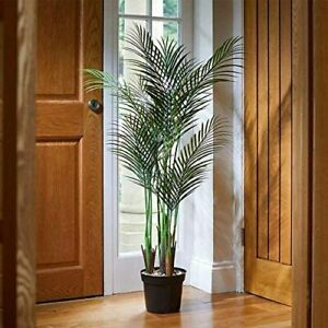 Faux Phoenix Palm Tree Potted Plant Realistic Home Decoration Indoor Ornamental