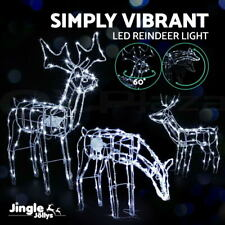 Jingle Jollys Christmas Motif Lights LED Rope Reindeer Waterproof Outdoor