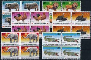 [P15916] Burundi 1991 : 4x Good Set Very Fine MNH Stamps in Blocs - $140