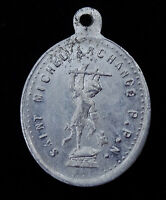 Antique French Medal Confraternity of Guardian Angels St Michael Archangel