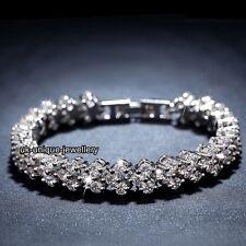 AAA Kristall Tennis Armband Silber Valentinstag Geschenke für Sie Freundin