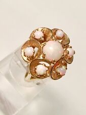 STUNNING VINTAGE 14 KT GOLD AND OPAL RING  6 GRAMS  SIZE 5 1/2