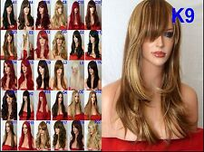 140 Styles Black Red Brown Blonde Long Curly Straight Wavy Ladies Fashion Wigs
