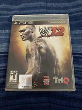 WWE '12 Sony PlayStation 3 W12 PS3 NO MANUAL