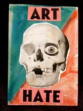 More details for harry adams and billy childish art hate original collage skull