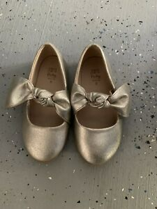 ZARA Baby Girl Metallic Gold Mary Jane EU 23 / US 7