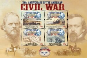 Micronesia- American Civil War 150th Anniv. Ball's Bluff Sheet of 4