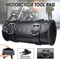 Universal Motorcycle Tool Bag Front Rear Fork Handlebar Saddlebag Roll Barrel US