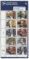 USPS Sheet 10 Stamps 32 Cent Classical Composers Conductors Orchestra Music 1997
