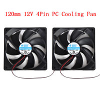 120x120x25mm 12V 4Pin PC Computer Case Cooling Fan Brushless CPU Cooler Lot