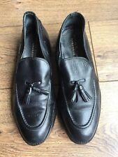 Samuel Windsor Indie Mod Skin Schwarz Leder Smart Penny Loafers Flats 7.5 41.5