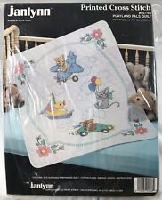 Janlynn Printed Cross Stitch Playland Pals Quilt Kit 957-68 New in Package 1990