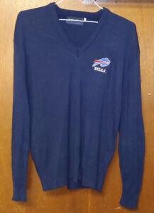Vintage Buffalo Bills Super Bowl 1990 Sweater V Neck AFC Champions Size Adult XL