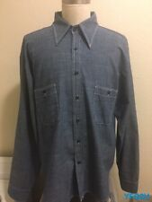 PIKE BROTHERS SUPERIOR GARMENTS XL BLUE CHAMBRAY 1955 ENGINEER SHIRT HERITAGE