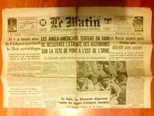 """JOURNAL DE PROPAGANDE DE LA COLLABORATION / """"LE MATIN"""" N° 21825 / 23 JUIN 1944"""