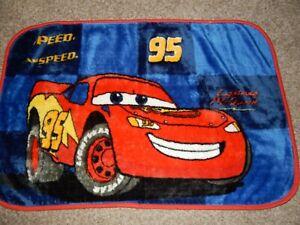 30x45 DISNEY Pixar CARS Lightning McQueen Minky Plush Crib Blanket