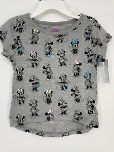 Minnie Mouse T-Shirt 3T Toddler Girls Short Sleeve T-Shirt - Gray New