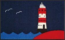 Fußmatte Leuchtturm maritimes Design 50x75 cm Türmatte Schmutzmatte waschbar