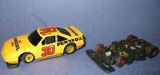 Tyco Slotless Slot Car Michael Waltrip #30 Pennzoil and Chassis from Tide Car