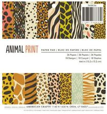 American Crafts ANIMAL PRINT 6x6 Paper Pad Scrapbook Planner Home Decor 36pc