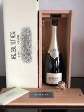 2002 Krug Clos Du Mesnil Champagne Empty Bottle & Wooden Box
