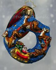 Christopher Radko *New* Little Gem Santa's Midnight Ride Christmas Ornament