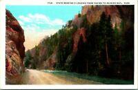 State Road 5 WA Yakima to Ranier National Park Postcard unused (19075)