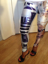 My Fav Sexy Star Wars R2D2 C3PO Print Leggings in Size S/M