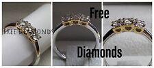 Anello Trilogy mod Cuori oro 18 kt e diamanti carati 0,65 - FREE DIAMONDS