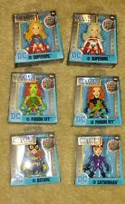 "Jada 2.5"" Metals Diecast Supergirl Poison Ivy Batgirl Catwoman lot of 6 Dc New"