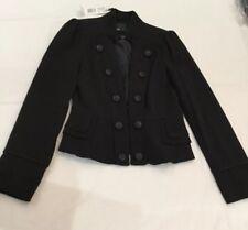 F & F Black Short Military StyleJacket Size 8