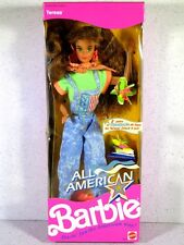 NIB BARBIE DOLL 1990 ALL AMERICAN TERESA WITH STEFFIE FACE REEBOK