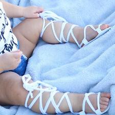 2018 Newborn Infant Baby Girl PU Leather High Bandage Sandals Summer Pram Shoes