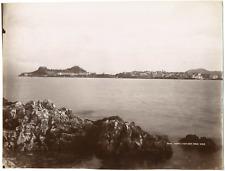 Grèce, Corfou, île au large de la côte nord-ouest de la mer Ionienne, vue généra