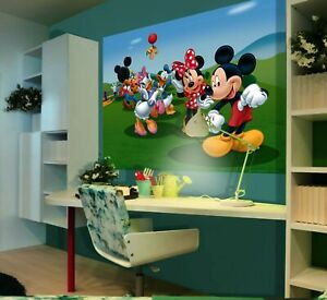 Children's bedroom Wall mural wallpaper Mickey Mouse 160x110cm Disney decoration