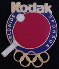 Table Tennis Olympic Pin Badge ~ Atlanta ~ 1996 ~ Worldwide Sponsor: Kodak
