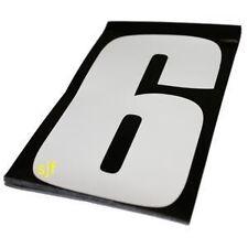 Motocross Carrera números Enduro 10 Pack Blanco 6 Pulgadas -