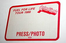 2 Judas Priest Fuel For Life Tour 1986 Rock Band Concert Press Pass Otto Mt RED