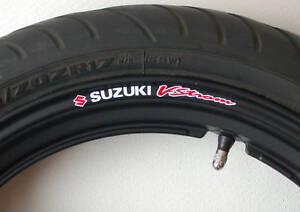 8 x SUZUKI VSTROM Wheel Rim Decals Stickers - dl650 dl1000 v-strom dl