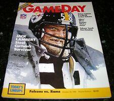 1984 LOS ANGELES RAMS vs ATLANTA FALCONS NFL PROGRAM in Excellent Condition