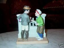 Norman Rockwell Danbury Mint Figurine The Rivals 1980